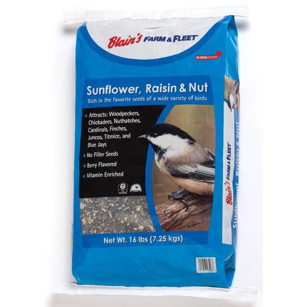 16 lb Sunflower, Raisin & Nut Bird Seed