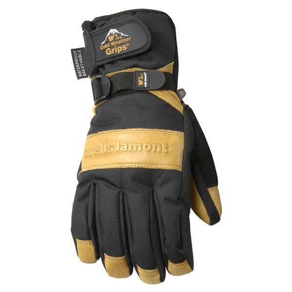 Men's  Waterproof Cowhide Palm Gloves