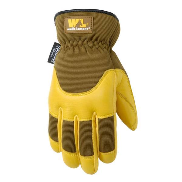 Men's Goldenrod Fleece Lined Deerskin Gloves