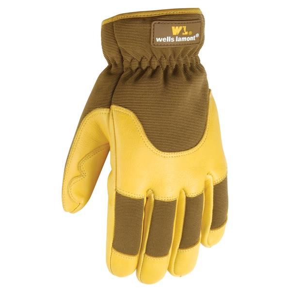 Men's Goldenrod Fleece Lined Deerskin Gloves
