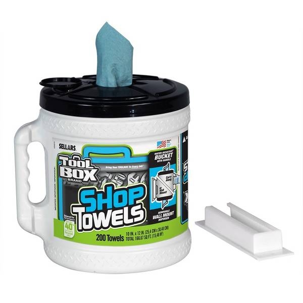 Sellars TOOLBOX Big Grip Bucket Blue Shop Towels