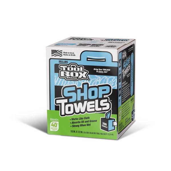 TOOLBOX Blue Shop Towels