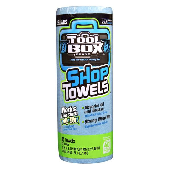 Sellars TOOLBOX Blue Shop Towels
