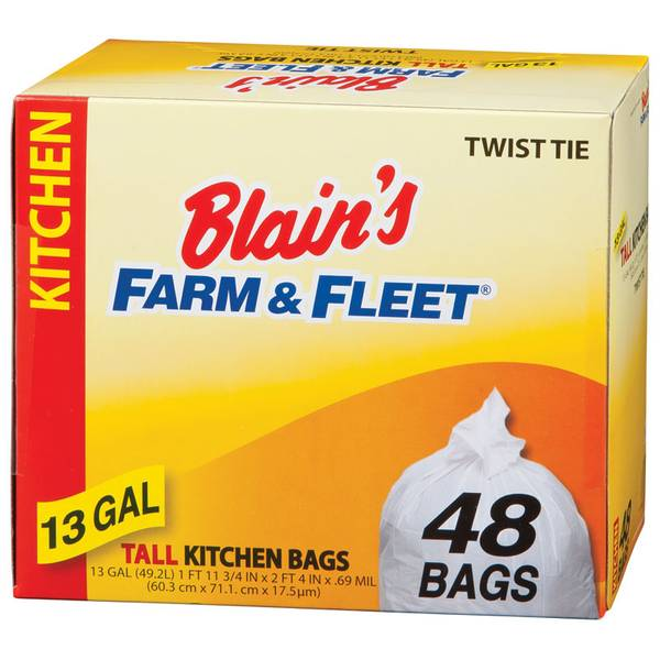13 Gallon Tall Kitchen Bags with Twist Ties