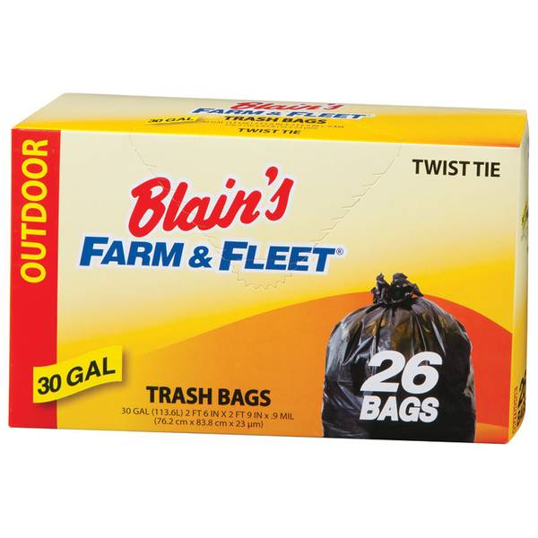 30 Gallon Trash Bags with Twist Ties