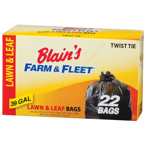 39 Gallon Lawn and Leaf Bags With Twist Ties