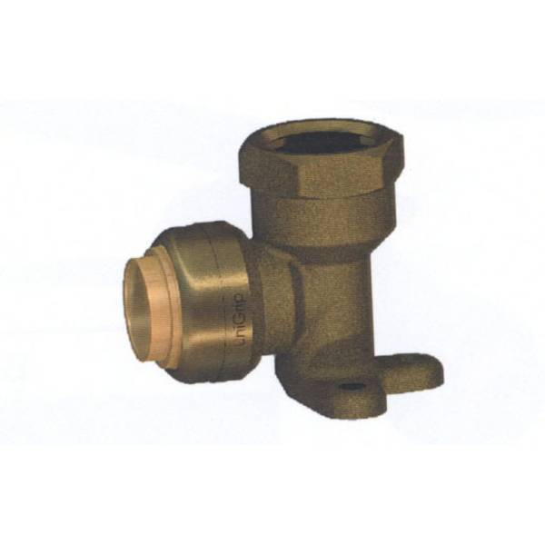 "1/2"" Lead Free 90 degree Brass Push-to-Fit DE Elbow"