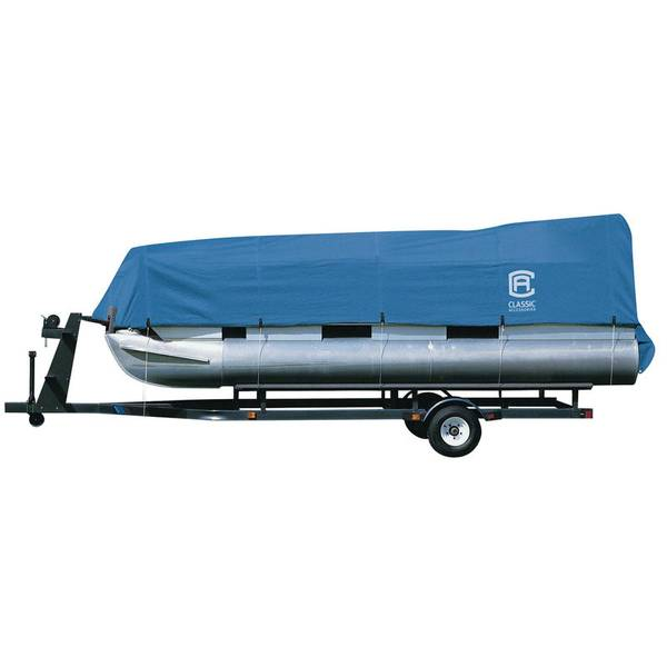 Stellex Pontoon Boat Cover, Blue, Model A