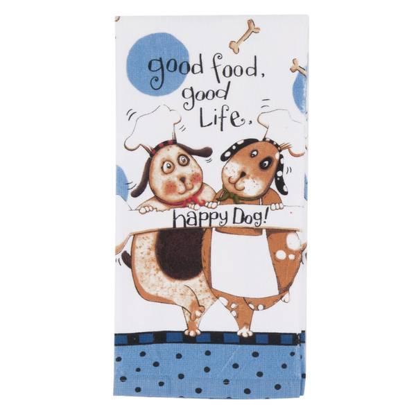 Marvelous Happy Dog Kitchen Towels Set