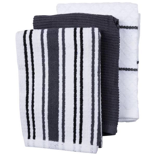 Charcoal 3-Piece Towel Set