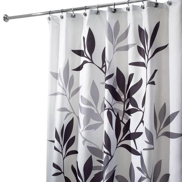 Leaves Bathroom Shower Curtain