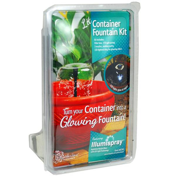 Pond Boss Container Fountain Kit With Light
