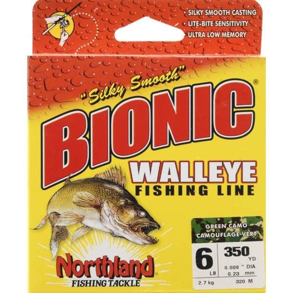 northland 6 lb bionic walleye fishing line