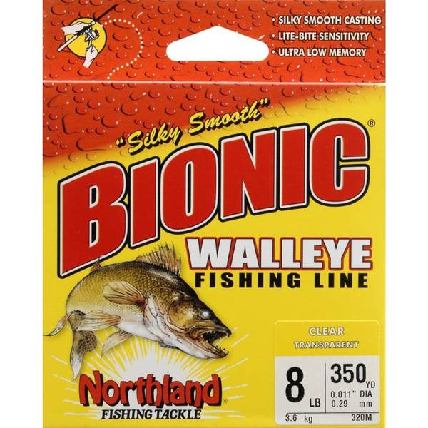 Northland 8 lb bionic walleye fishing line for Best fishing line for walleye