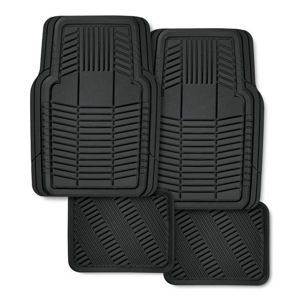4 Piece Multi-Season Rubber Floor Mat Set