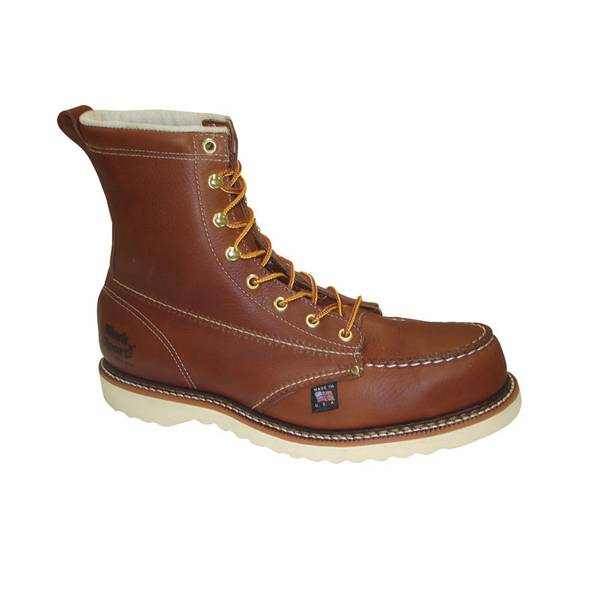 """Men's  8"""" Steel Toe Moc Work Boots - Made in USA"""