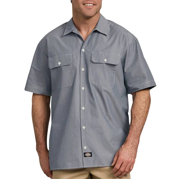 Men's Navy Chambray Shirt