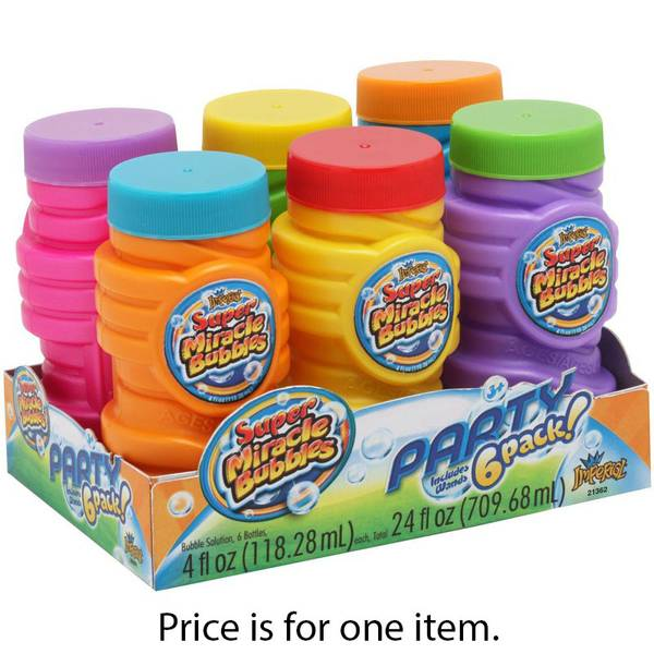 6-Pack Super Miracle Bubbles