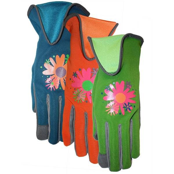 Women's Suede Palm Spandex Back Gloves
