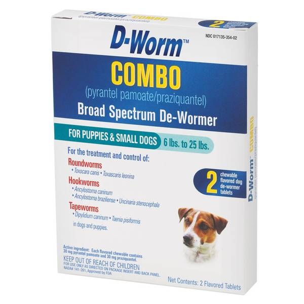 D-Worm Combo Broad Spectrum Small Dog & Puppy De-Wormer