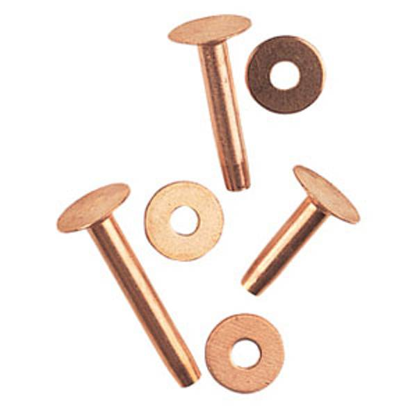 Assorted Copper Rivets and Burrs