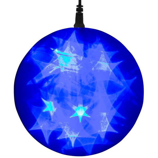 """Blue Battery-Operated 6"""" LED Starfire Sphere"""