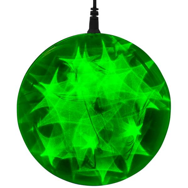 """Green Battery-Operated 6"""" LED Starfire Sphere"""