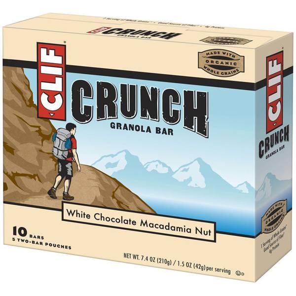 White Chocolate Macadamia Nut Crunch Granola Bars