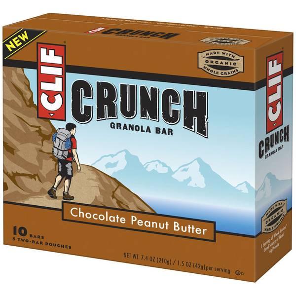 Chocolate Peanut Butter Crunch Granola Bars