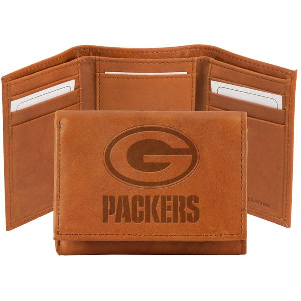 Green Bay Packers Embossed Leather Wallet