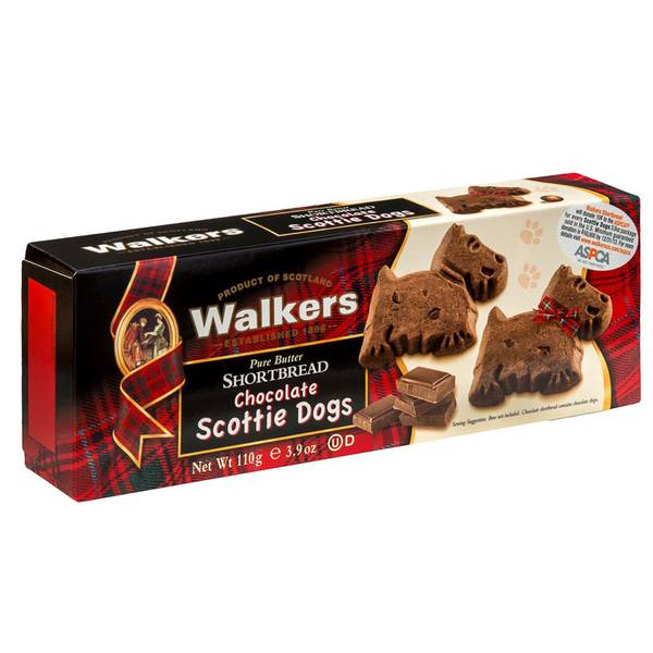 Chocolate Scottie Dog Shortbread Cookies