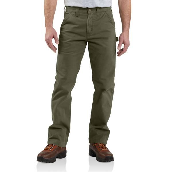 Men's Relaxed Fit Washed Twill Dungarees