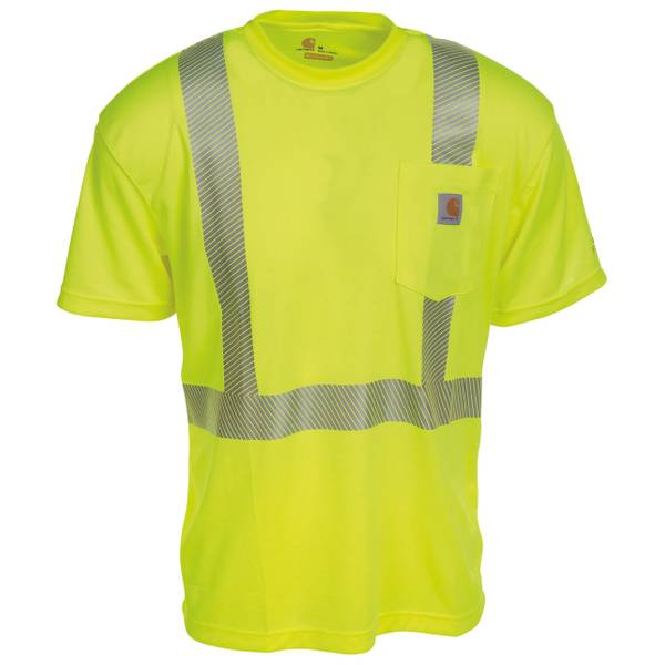 Men's Bright Lime Force High Visibility Class 2 T-Shirt