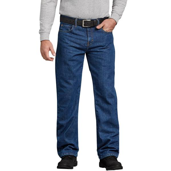 Men's Relaxed Fit Straight Leg Flannel Lined Jeans