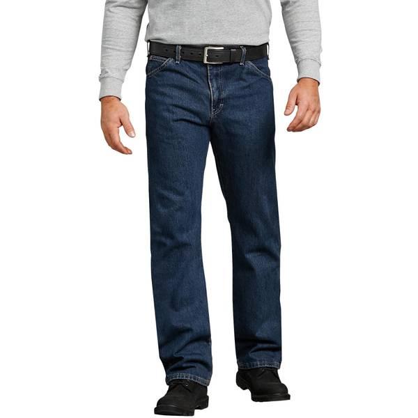 Men's Regular Straight Fit 6-Pocket Denim Jeans