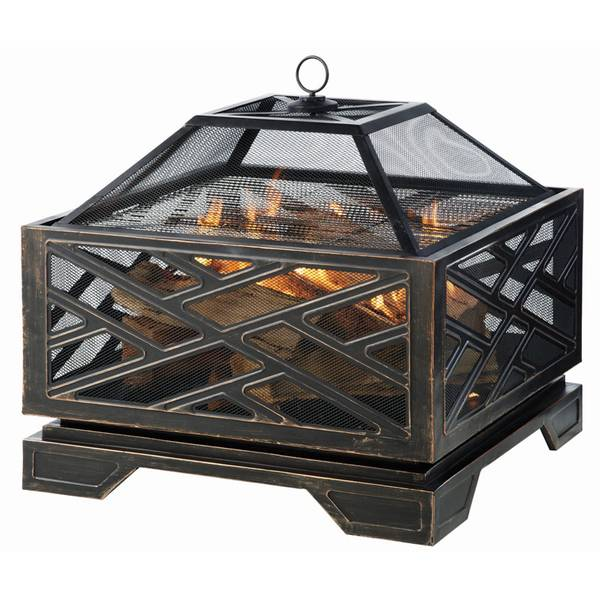 "26"" Rubbed Bronze Sydney Square Firepit"