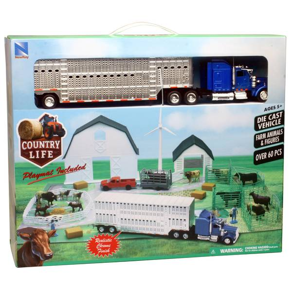 Country Life Kenworth W900 Semi Truck Trailer Ranch Playset Assortment