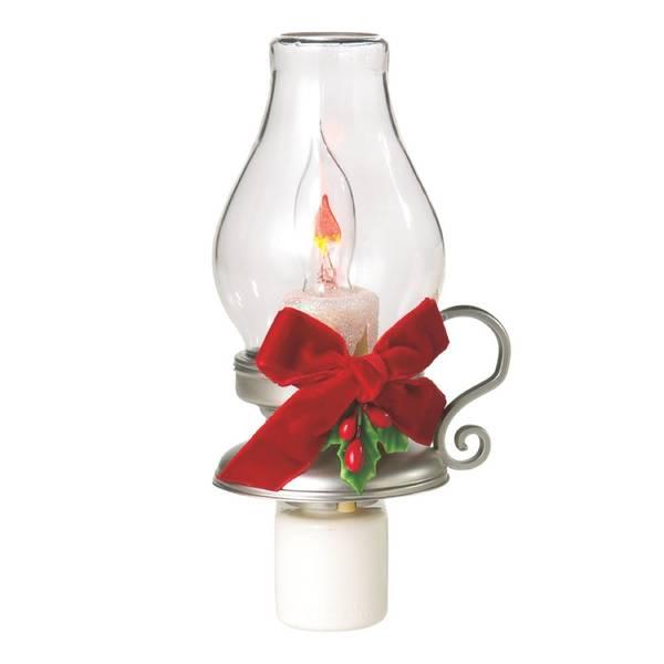 Lantern with Holly Night Light