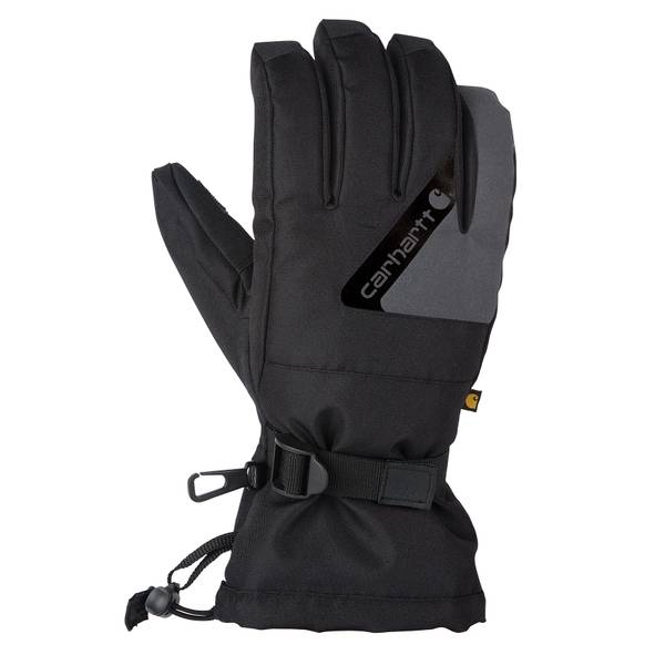 Men's Black & Dark Grey Pipeline Insulated Gloves