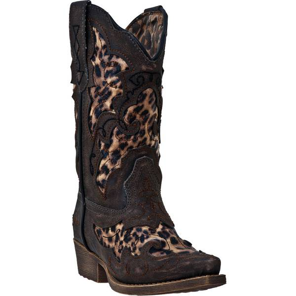 Laredo Girl's Brown Leopard Print Western Boots At Blain's