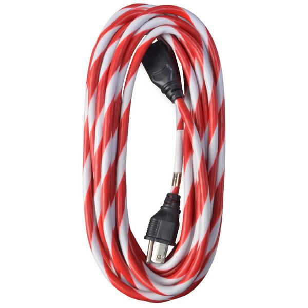 Candy Cane Striped Extention Cord