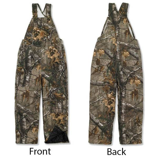 Boys' Realtree  Camouflage Quilt Lined Bib Overalls