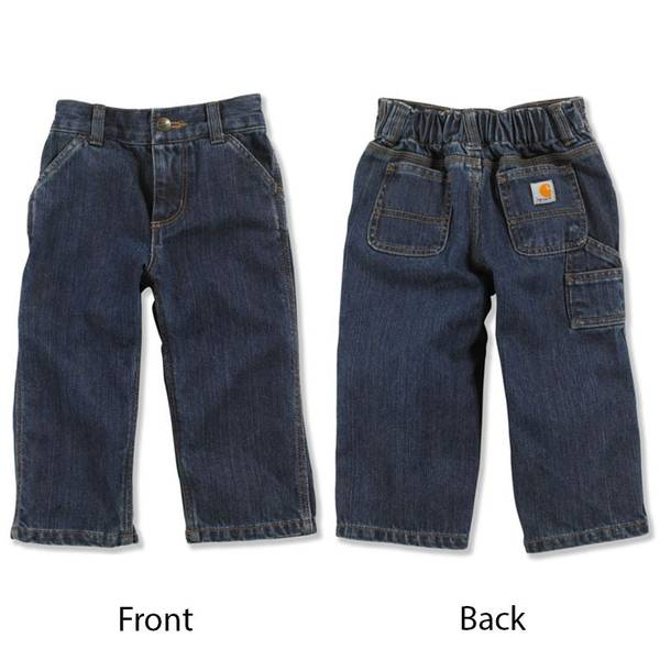 Infant Boy's Blue Washed Denim Dungarees