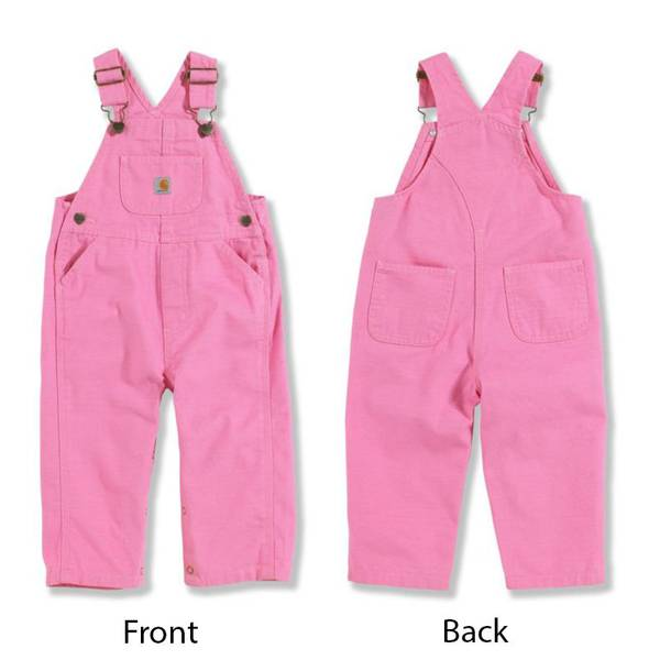 Baby Girls' Canvas Bib Overalls