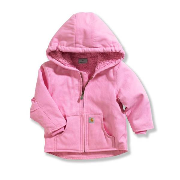 Baby Girls' Redwood Sherpa Lined Canvas Jacket
