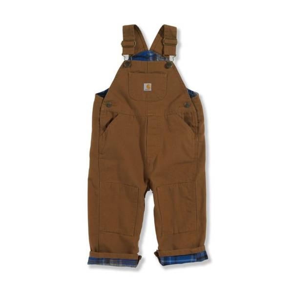 Baby Boys' Flannel Lined Canvas Bib Overalls