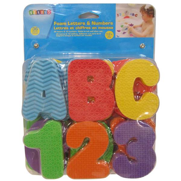 Foam Letters & Numbers Bath Toy