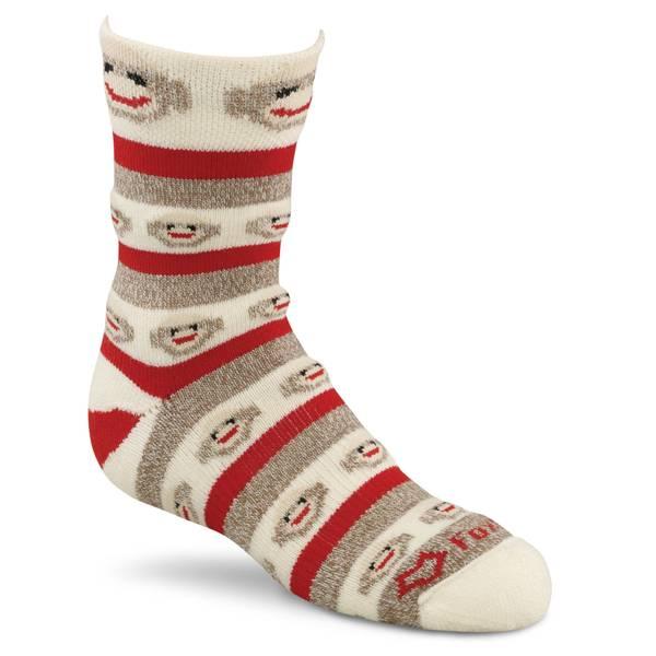 Kids Monkey Stripe Crew Socks