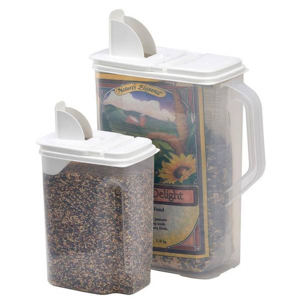 Bird Seed Dispenser Double Pack Set