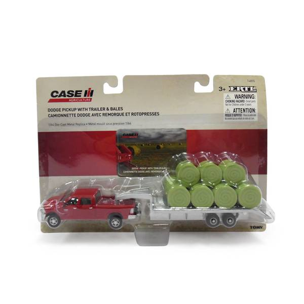 Ertl 2011 Dodge Ram Pickup With Trailer  U0026 Hay Bales